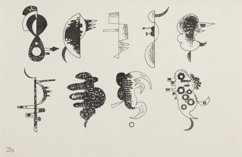 "<span class=""artist""><strong>Vassily Kandinsky</strong></span>, <span class=""title""><em>Drawing for 'Each for Itself'</em>, 1934</span>"