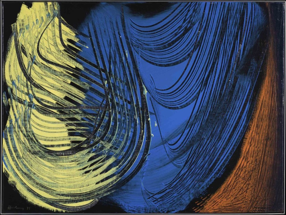 "<span class=""artist""><strong>Hans Hartung</strong></span>, <span class=""title""><em>T 1971-E43</em>, 1971</span>"