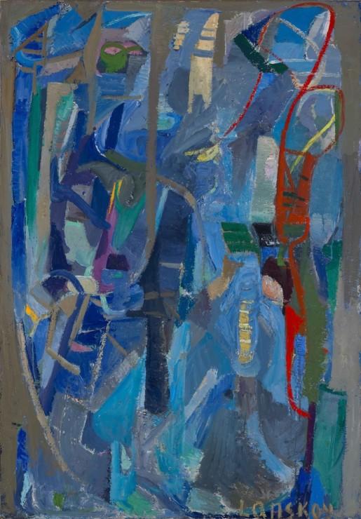 "<span class=""artist""><strong>André Lanskoy</strong></span>, <span class=""title""><em>Lueurs incertaines</em>, 1947</span>"
