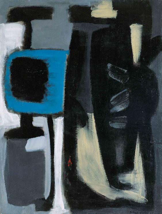 """<span class=""""artist""""><strong>Gérard Ernest Schneider</strong></span>, <span class=""""title""""><em>Opus 384</em>, 1950</span>"""