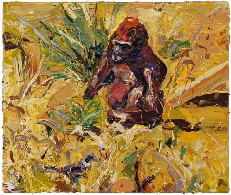 "<span class=""artist""><strong>Paul Richards</strong></span>, <span class=""title""><em>Gorilla in Enclosure</em>, 2010</span>"