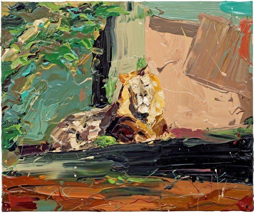 "<span class=""artist""><strong>Paul Richards</strong></span>, <span class=""title""><em>Lion Staring</em>, 2010</span>"