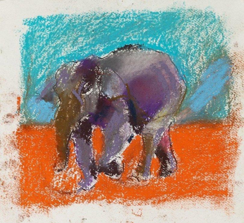 "<span class=""artist""><strong>Paul Richards</strong></span>, <span class=""title""><em>Study for Elephant</em>, 2010</span>"