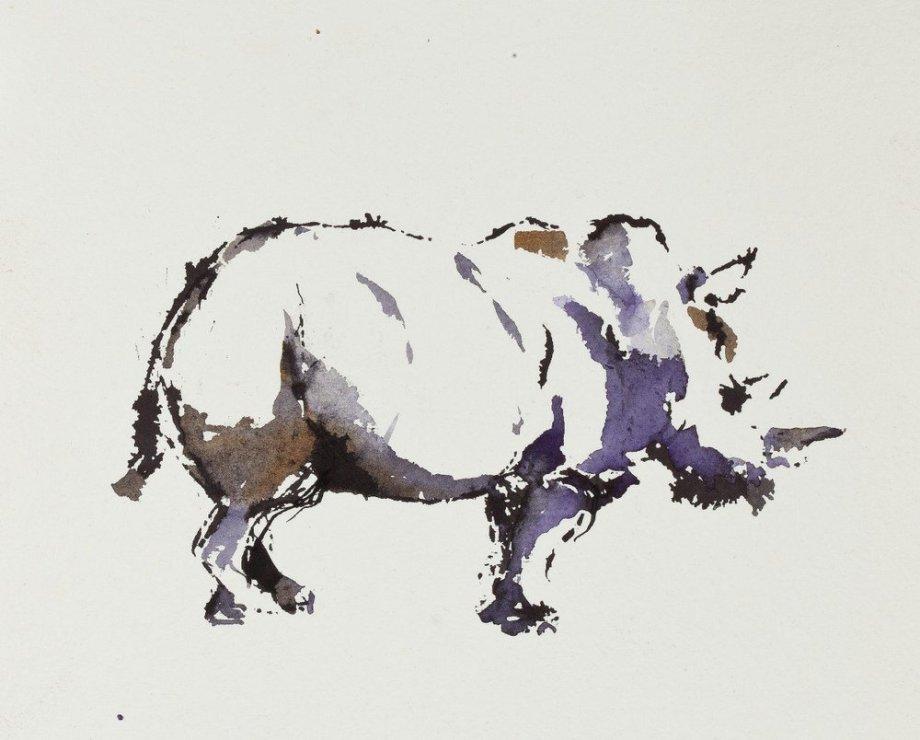 "<span class=""artist""><strong>Paul Richards</strong></span>, <span class=""title""><em>Study for Rhino</em>, 2010</span>"