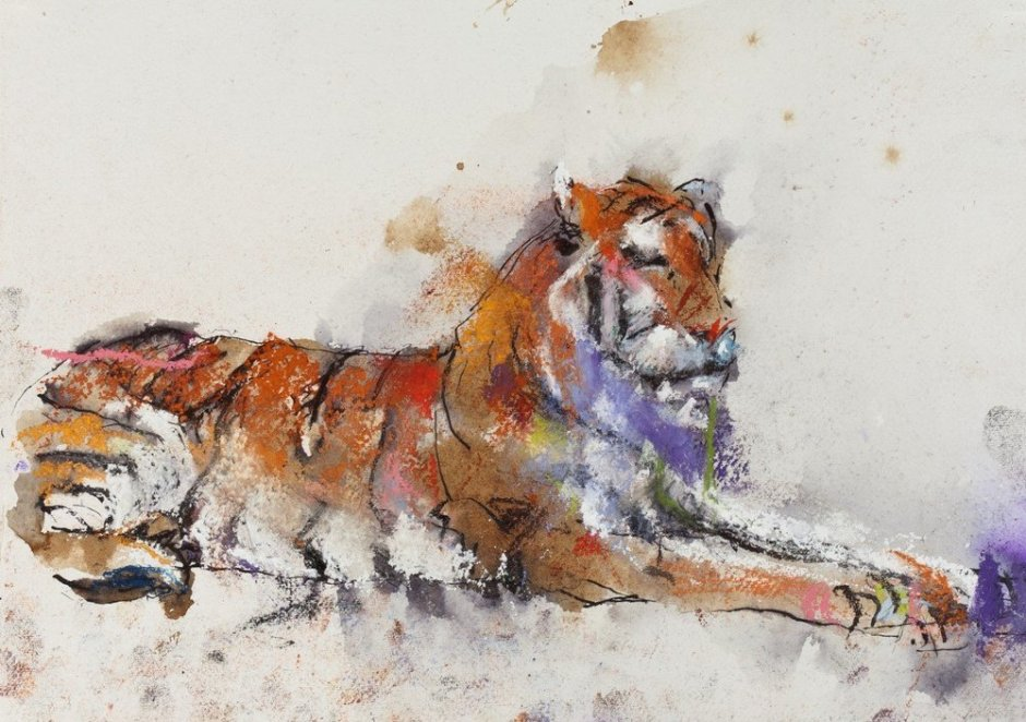 "<span class=""artist""><strong>Paul Richards</strong></span>, <span class=""title""><em>Study for Snow Tiger</em>, 2010</span>"