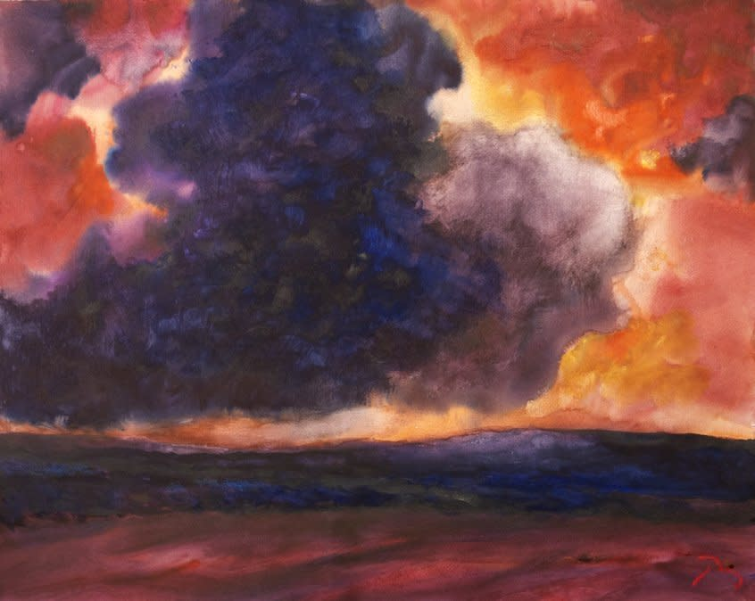 "<span class=""artist""><strong>Herbert Beck</strong></span>, <span class=""title""><em>Blue and Purple Clouds</em>, c. 1995</span>"