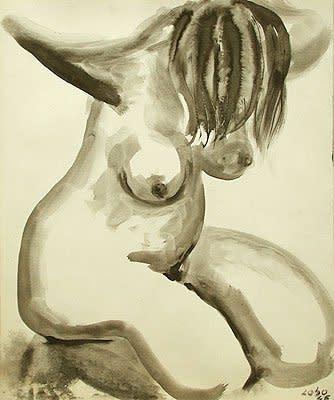 "<span class=""artist""><strong>Baltasar Lobo</strong></span>, <span class=""title""><em>Personnage agenouillé</em>, 1946</span>"