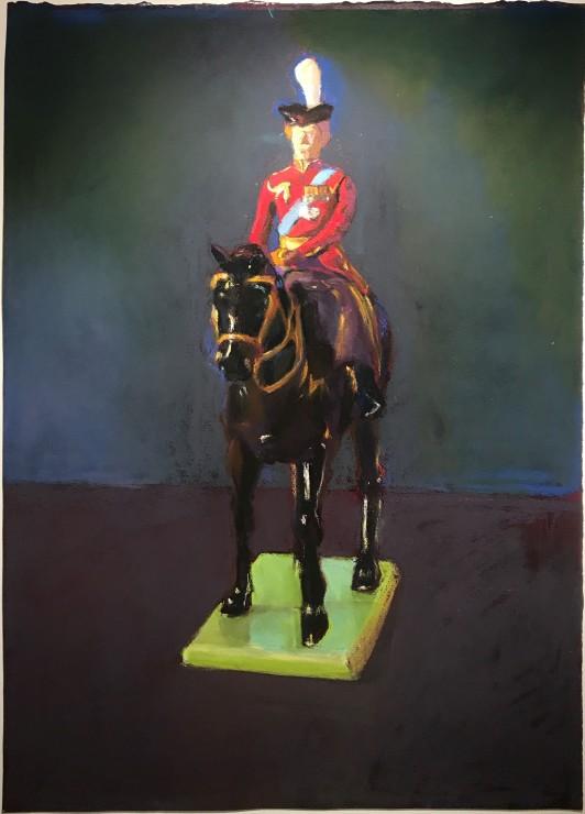 <p><strong>Paul Richards</strong>,<em>Still life, figure on horseback</em>, 2019</p><p>SOLD</p>