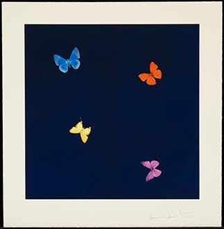 "Damien Hirst ""To a Stranger from Love Poems"""