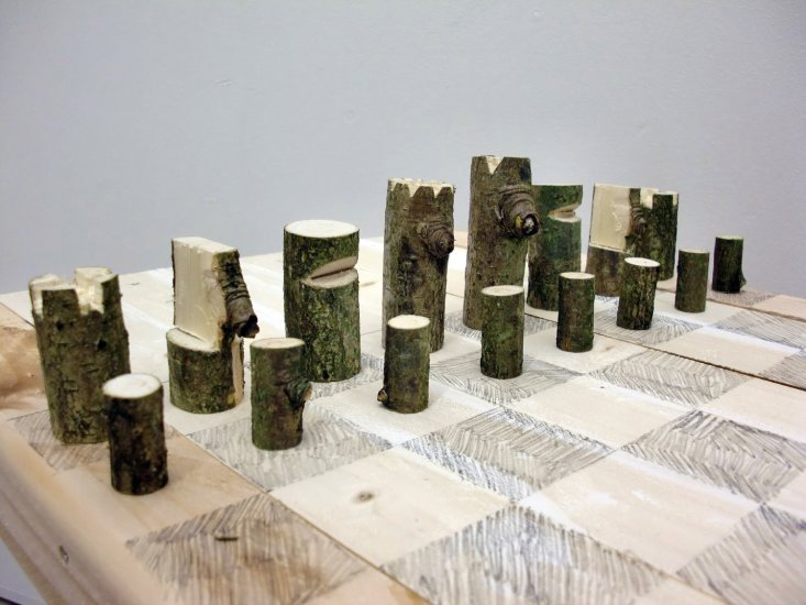 Log Chess Set, 2012