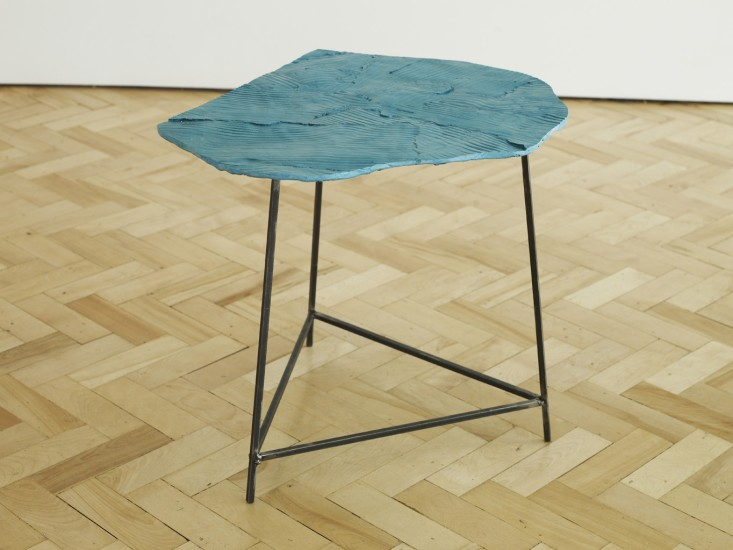 Wooden Table, Teal 1, 2014