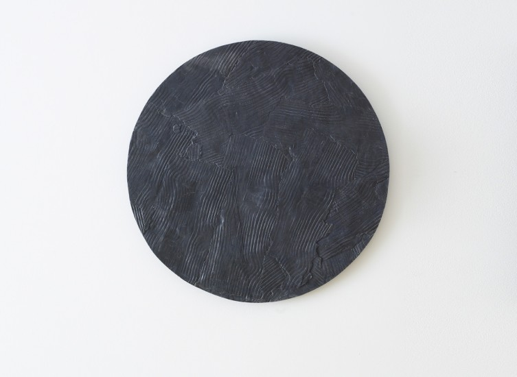 Wooden Table, Graphite Circle 1, 2014