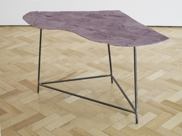 Wooden Table, Purple 1, 2014
