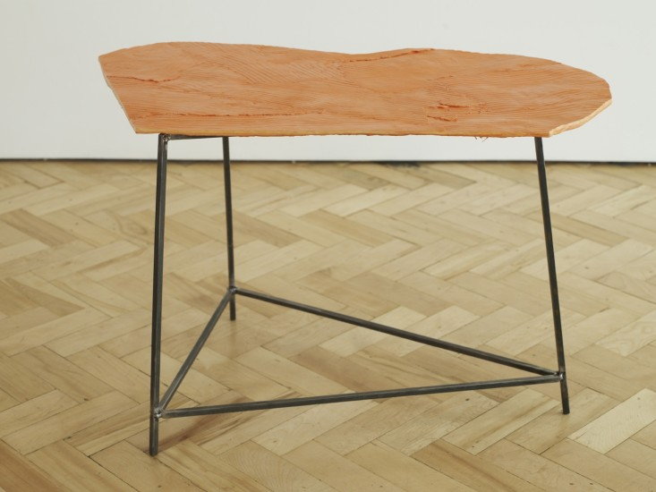 Wooden Table, Orange 2, 2014