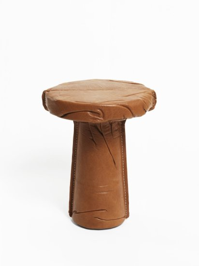 Leather Slip Stool, 2012
