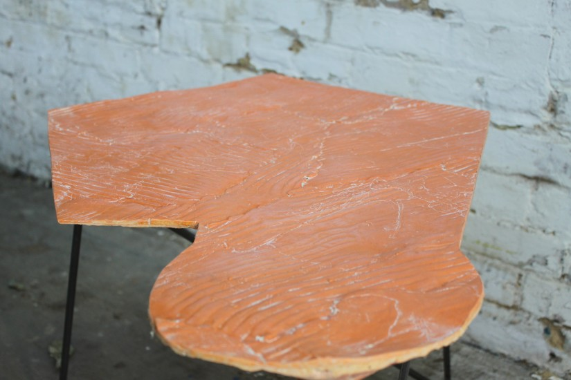 Wooden Table, Orange 1, 2013