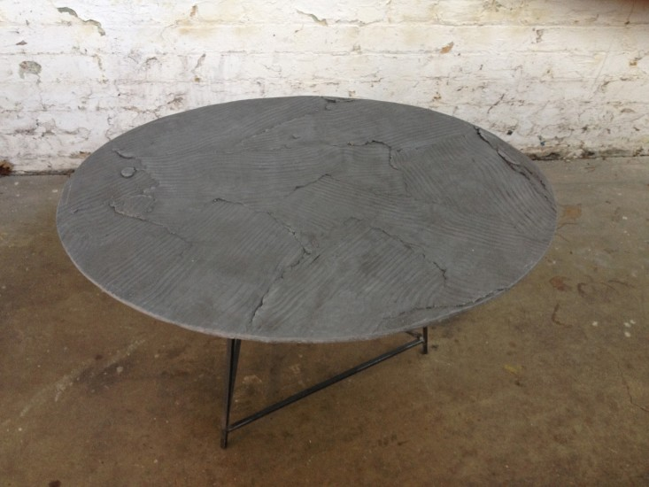 Wooden Table, Grey Circle 1, 2014