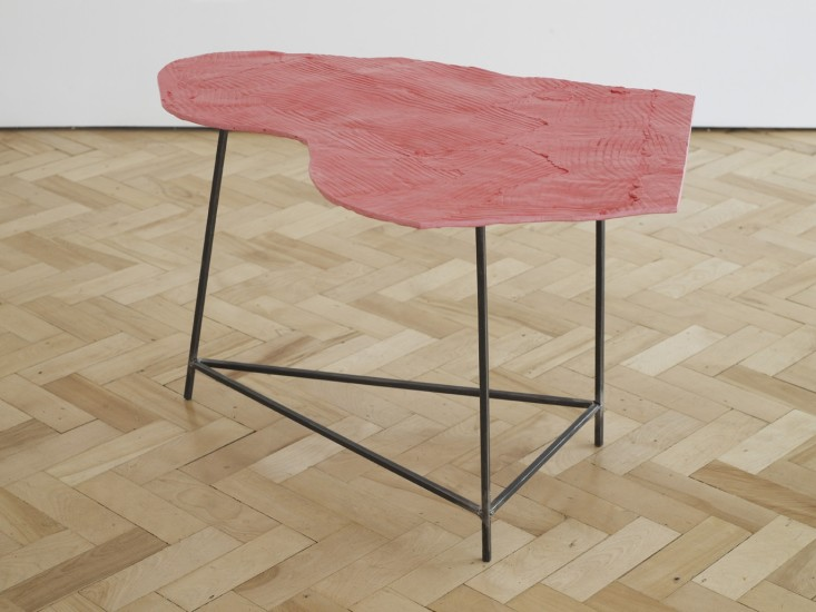 Wooden Table, Pink 1, 2014