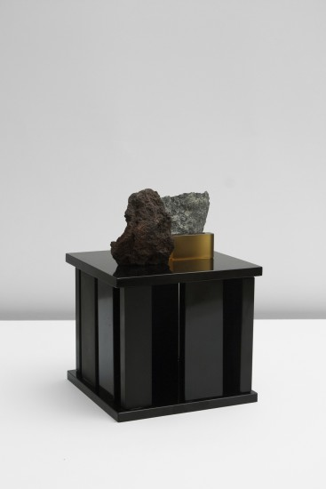 "<div class=""artist""><strong>Formafantasma</strong></div><div class=""title""><em>Zafferana</em>, 2014</div><div class=""medium"">Mouth blown Lava, Lava rock, Murano Glass</div><div class=""dimensions"">15 x 15 x 25 H cm</div>"