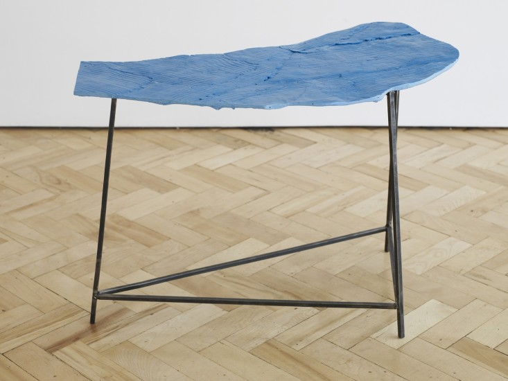 Wooden Table, Blue 2, 2014