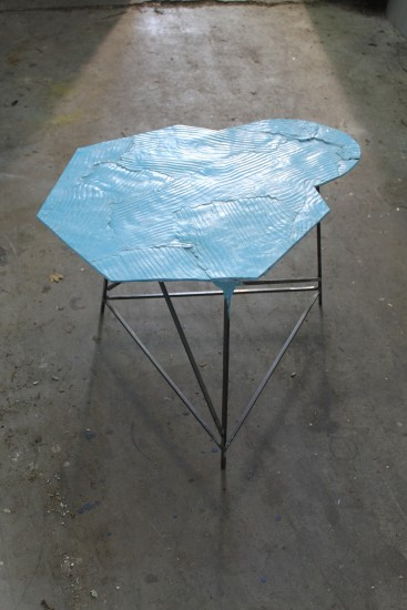 Wooden Table, Blue 1, 2013