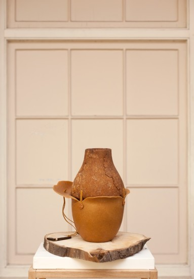 Botanica Amber Coloured Vase, 2011