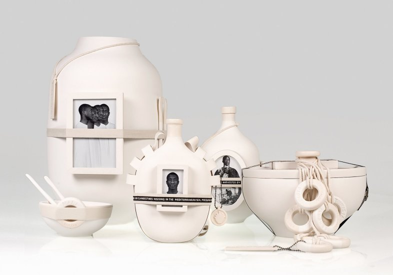 <p><strong>Formafantasma</strong>, Moulding Tradition, 2009</p><p>Large vase, large bowl, wine flask, hip flask and small bowls</p><p>Each object an edition of 12 plus 2 Artist's Proofs & 1 Prototype</p><p>Photography by Luisa Zanzani</p>