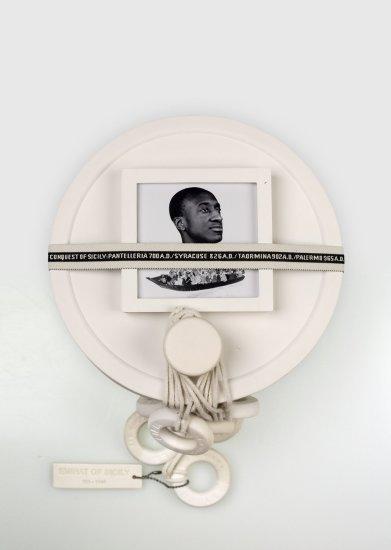 <p><strong>Formafantasma</strong>, Moulding Tradition: Large Bowl, 2009</p><p>Unglazed ceramic, glass, jacquard ribbon, photographic paper</p><p>Edition of 12 plus 2 Artist's Proofs & 1 Prototype</p><p>Photography by Luisa Zanzani</p>