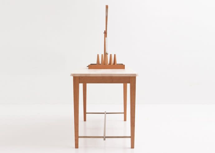 <p><strong>aberant architecture, Benchmark, American Hardwood Export Council</strong>, Devil Amongst the Tailor's Table, 2012</p>