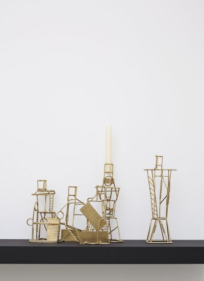 <p><strong>Fabien Cappello,</strong> Drawn Candlesticks, 2012</p><p>Lost-wax method cast brass</p><p>5-piece set, series of 8</p><p>Photography by Petr Krejci</p>