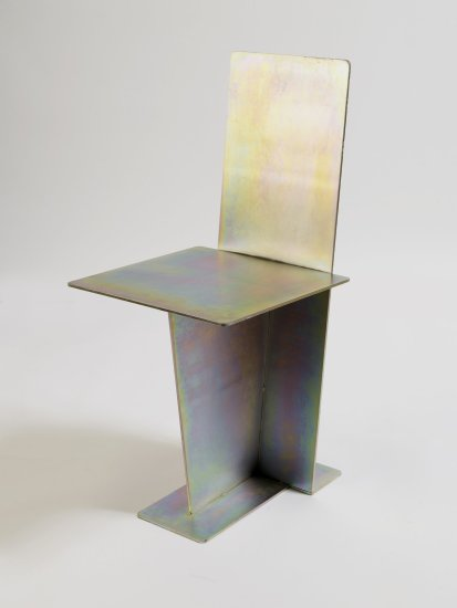 <p><strong>Max Lamb</strong>, Flat Iron Chair, 2008.</p><p>Plated steel.</p><p>Photograph by Gideon Hart.</p>