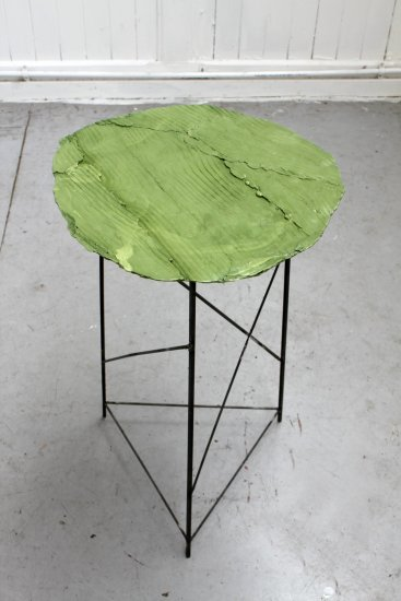 <p><strong>Peter Marigold</strong>, Wooden Table, Green 2, 2013</p><p>Jesmonite, steel</p><p>72 H x 48 Diameter cms</p><p>Open series</p>