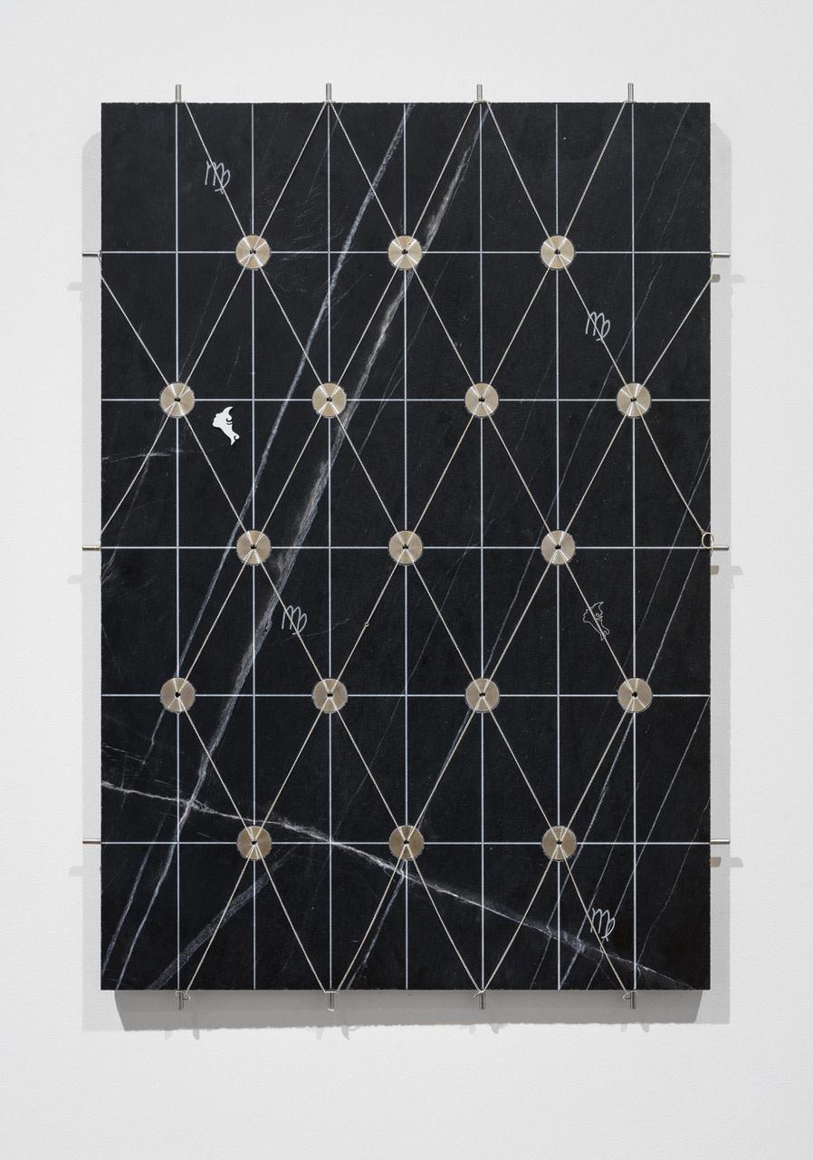 George Henry Longly Zodiac (Virgo), 2016 Marble, Metal chains, Metal 80 x 55 cm 31 1/2 x 21 5/8 in
