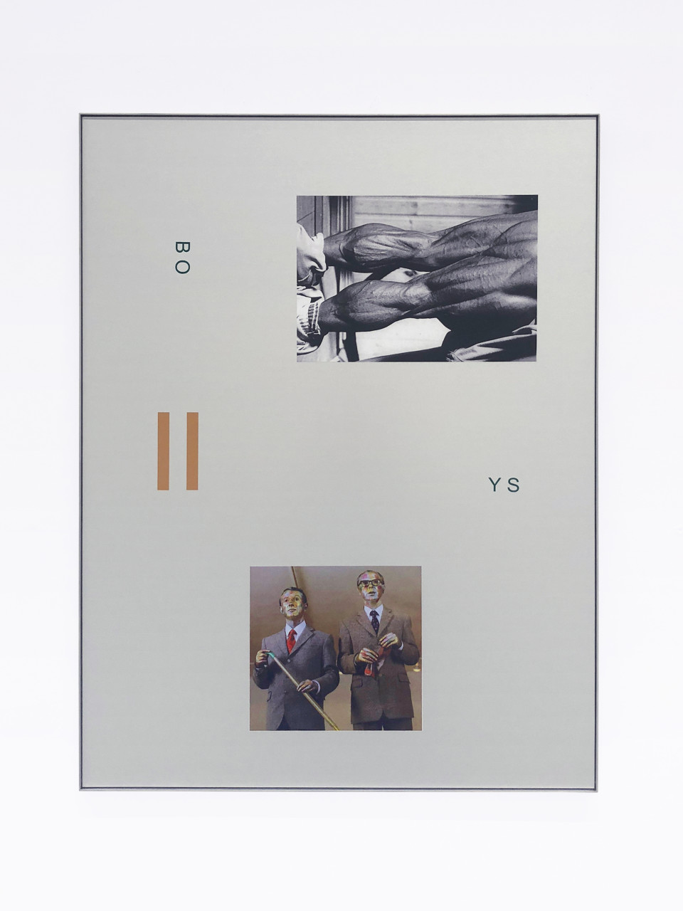 Simeon Barclay Playing mass, 2014 Aluminium, vinyl adhesive 119 x 90 x 2.5 cm 46 7/8 x 35 3/8 x 1 in