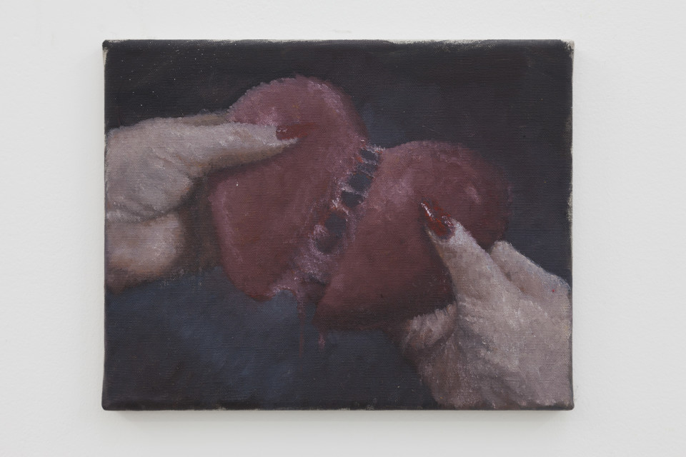 Issy Wood Untitled (Hypokrit 2), 2019 Oil on linen 23.5 x 30 x 1.5 cm 9 1/4 x 11 3/4 x 5/8 in