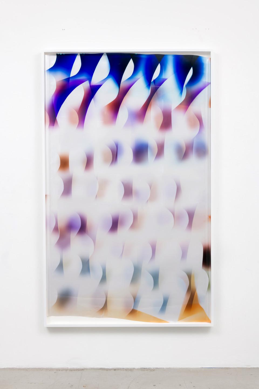 Image: Mariah Robertson  105, 2017  unique chromogenic print  80 x 50 inches (203.2 x 127 cm)