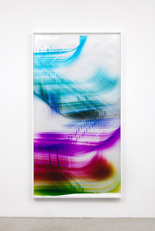 Image: Mariah Robertson  226, 2017  unique chromogenic print  91 x 49 inches (231.1 x 124.5 cm)