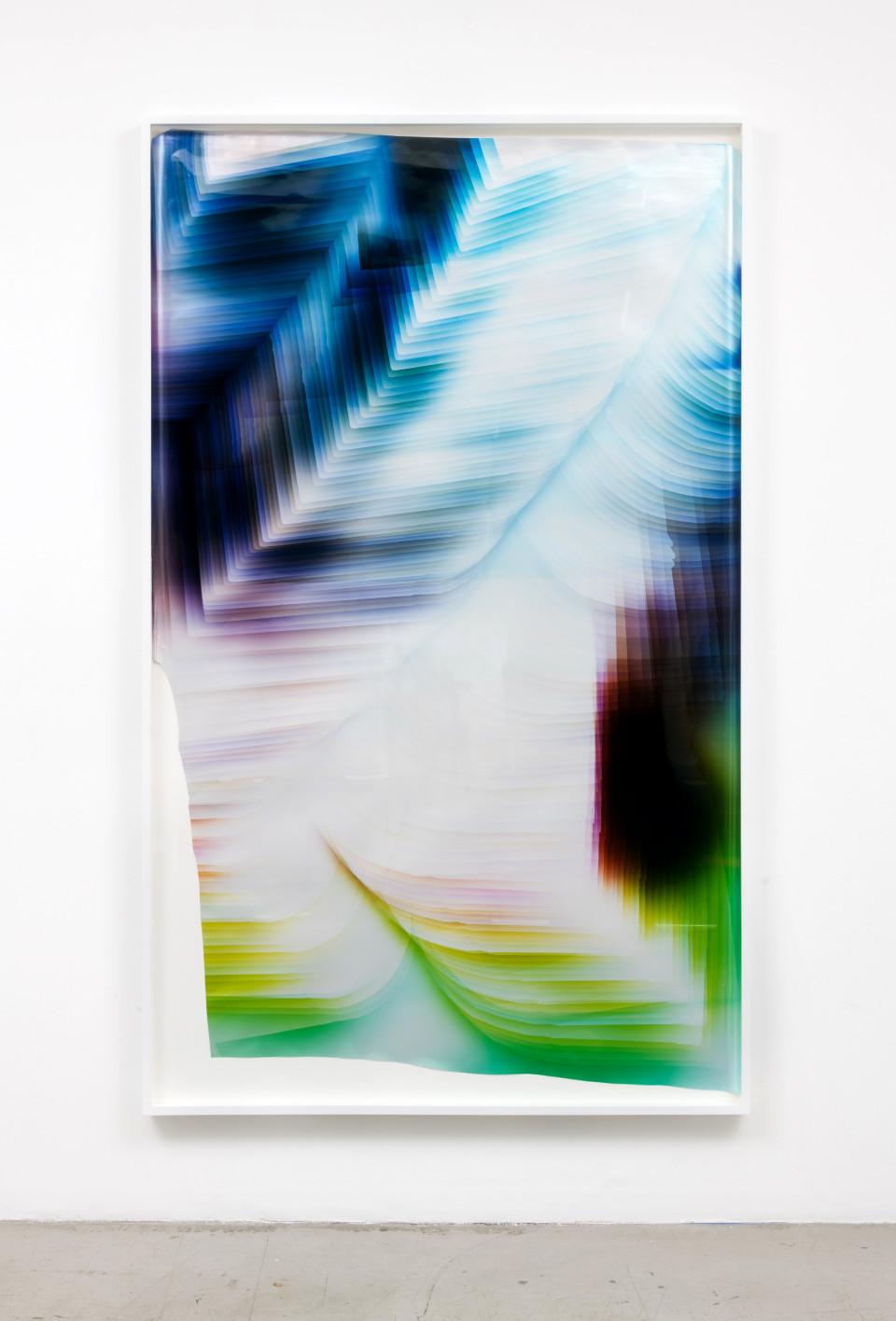 Image: Mariah Robertson  260, 2017  unique chromogenic print  82 x 50 inches (208.3 x 127 cm)
