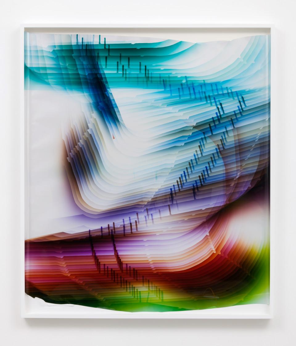 Image: Mariah Robertson  231, 2017  unique chromogenic print  57 x 49 inches (144.8 x 124.5 cm)