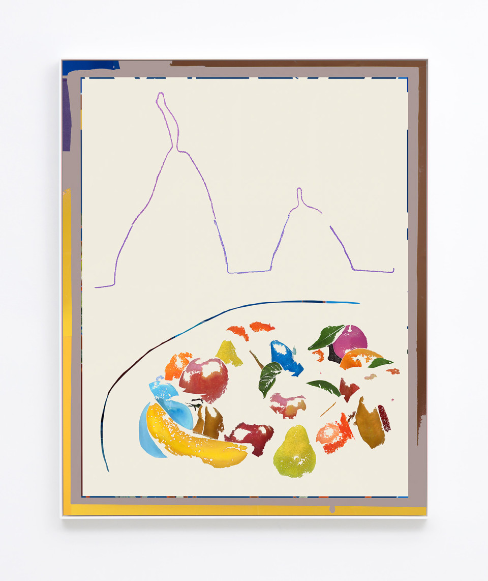 Image: Daniel Gordon  Bowl and Pears, 2017  signed and numbered verso  archival pigment print on canvas  49-5/8 x 39-5/8 inches  unique