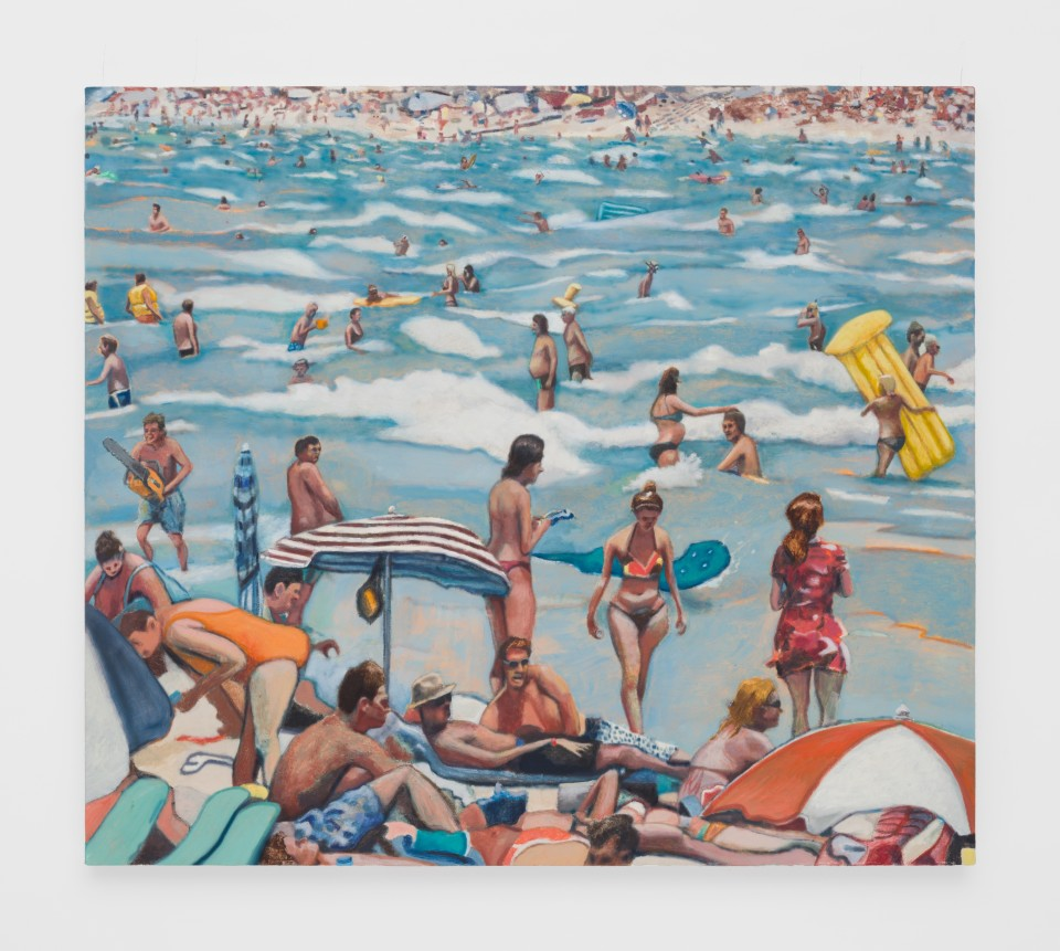Image: Rob Thom  Reverse Beach, 2019  oil and wax on canvas  34 1/2 x 38 inches (87.6 x 96.5 cm)