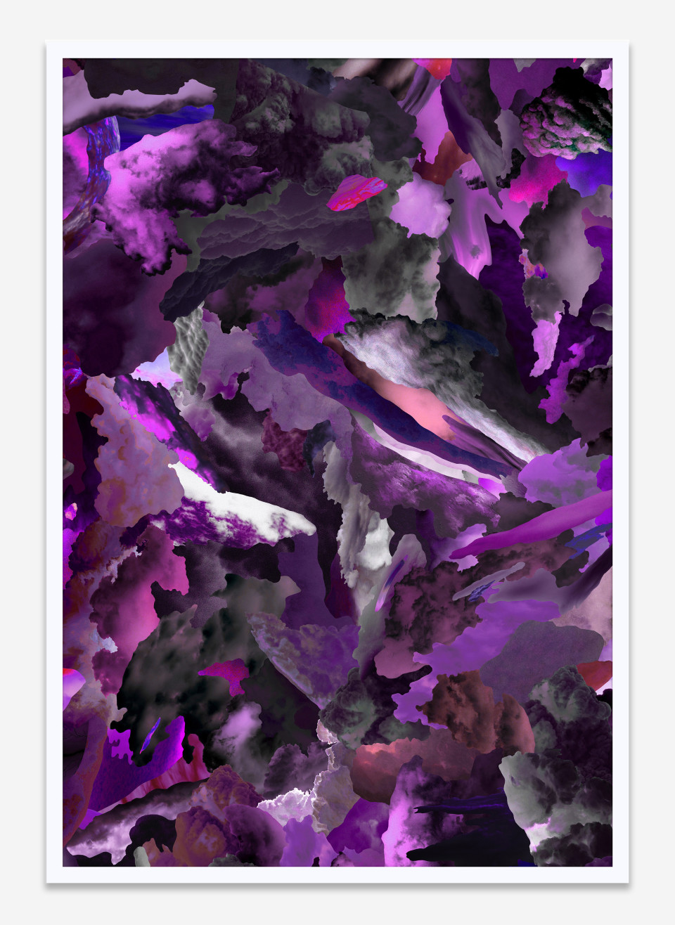 Image: Case Simmons  Clouds W, 2019  pigment print in artist's frame  26 x 18 inches (66 x 45.7 cm)  edition of 1 plus 1 artist's proof