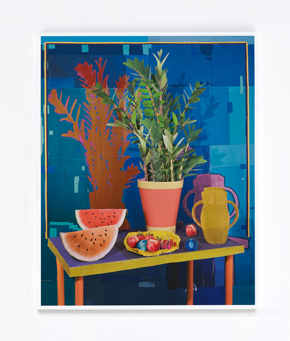 Image: Daniel Gordon  Still Life with Watermelon, 2017  signed and numbered verso  archival pigment print  62 x 49-3/4 inches  edition of 3 plus 1 artist's proof