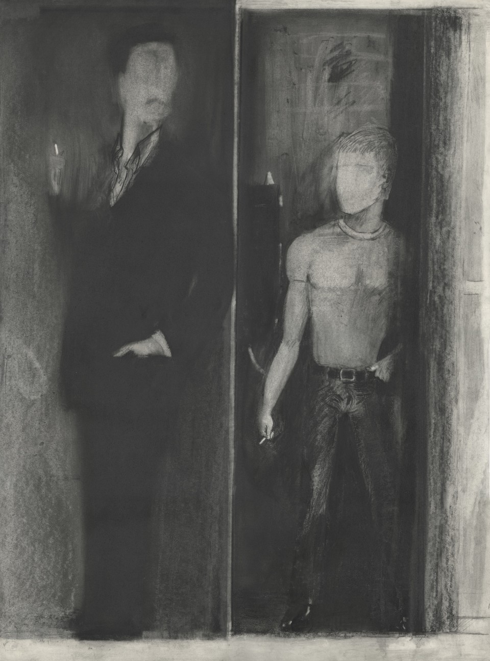 Image: Jimmy Wright  Hustler, 1975  graphite on paper  30 x 22 inches (76.2 x 55.9 cm)