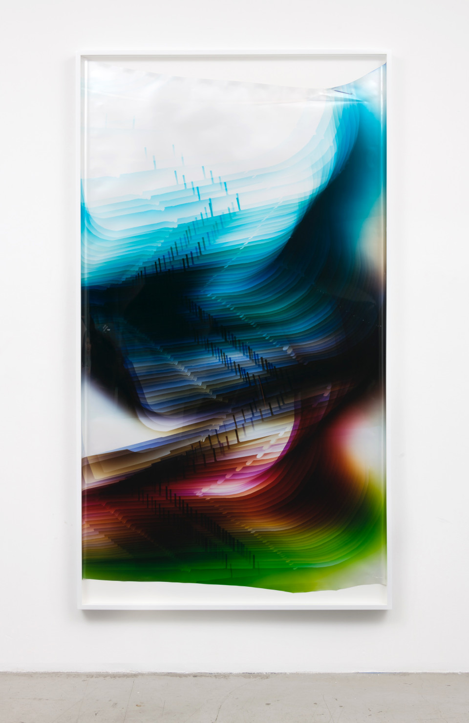 Image: Mariah Robertson  229, 2017  unique chromogenic print  87 x 49 inches (221 x 124.5 cm)