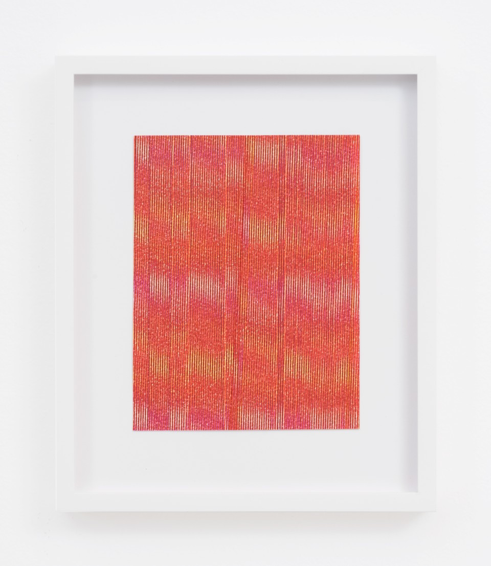 Image: Cameron Martin  Untitled, 2017  signed verso  permanent marker on paper  paper size: 5 3/4 x 4 1/2 inches  frame size: 8 7/8 x 7 7/16 inches