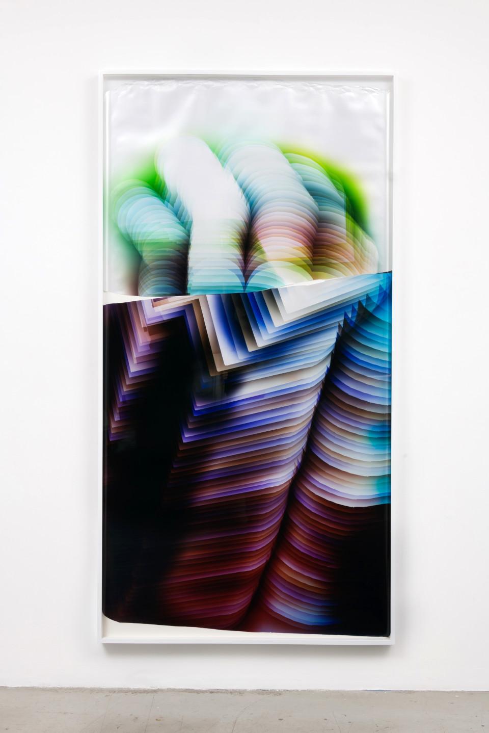 Image: Mariah Robertson  257 258, 2017  unique chromogenic print  94 x 49 inches (238.8 x 124.5 cm)