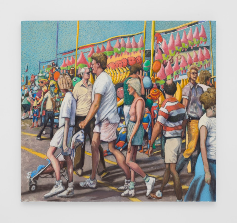 Image: Rob Thom  Fair Walkers, 2019  oil and wax on canvas  40 x 43 inches (101.6 x 109.2 cm)