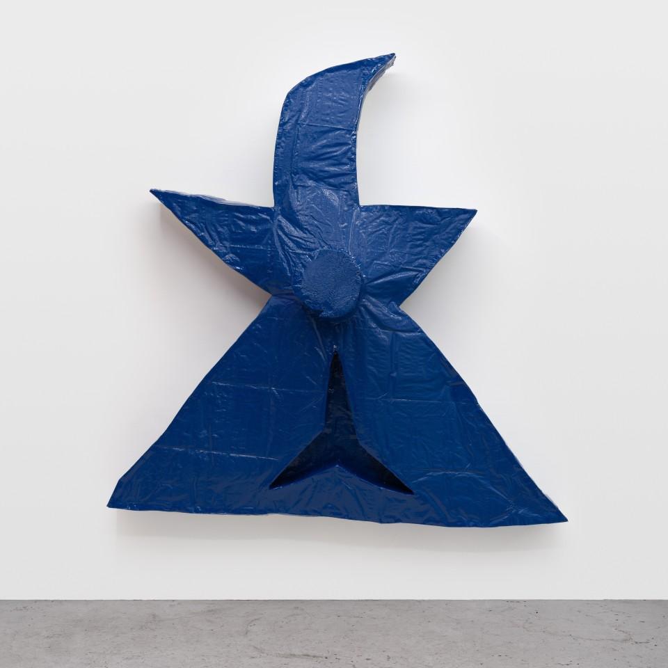 Image: Daniel Boccato  strapface, 2019  epoxy, fiberglass, polyurethane  72 x 74 x 19 inches (182.9 x 188 x 48.3 cm)