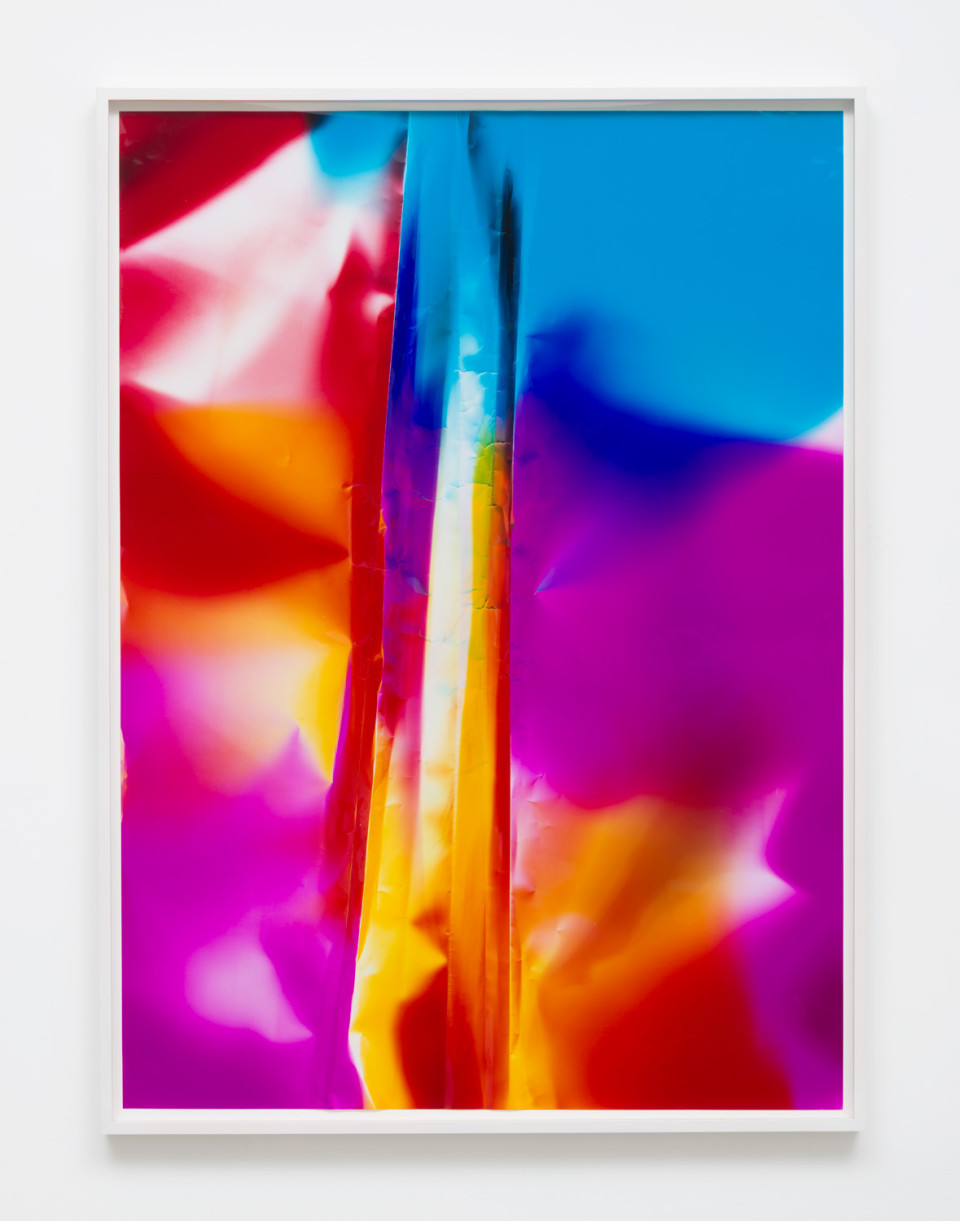 Image: Ellen Carey  Caesura, 2016  signed, dated and titled verso  unique color photogram  40 x 30 inches  (ECa.05.1616.40)